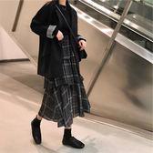 大碼女裝春裝新款胖mm顯瘦遮肚藏肉外套胖妹妹洋氣最愛半身裙套裝 潮人女鞋