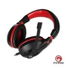 【MARVO 魔蠍】H8321 電競耳罩式耳機-黑紅(電競耳機) - 超高CP值