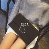 手拿包  手包女韓版潮手拿包簡約個性時尚大容量單肩斜跨百搭氣質 『伊莎公主』