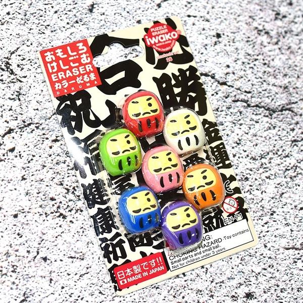 日本製 達摩不倒翁 7個包裝 橡膠