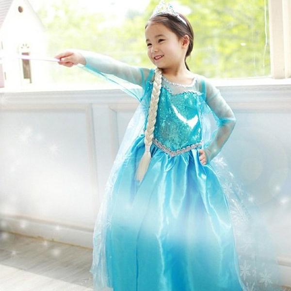 萬聖節 聖誕節裝扮 冰雪奇緣 艾莎公主 造型服裝