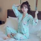【預購】日式綠飛鶴可愛印花柔軟舒適綁帶睡...