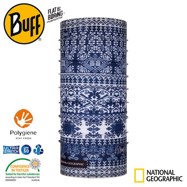 【BUFF 西班牙 國家地理 經典頭巾Plus 青花瓷】121540/圍脖/帽子/口罩/圍巾/吸溼排汗