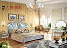 【大熊傢俱】RE802 新古典床  歐式 皮床 歐式古典 床架 五尺床 六尺床  雙人床台 新古典   雙人床