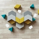 沙發 圖書館公司接待培訓機構辦公等位區商場創意異形三角形組合沙發凳