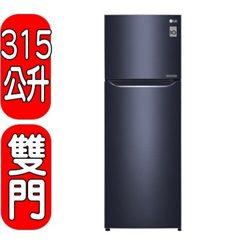 《結帳打95折》LG樂金【GN-L397C】315公升變頻雙門冰箱