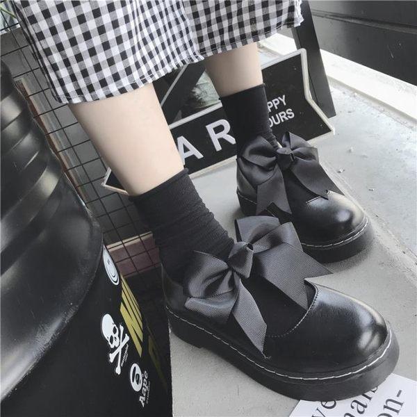 lolita小皮鞋夏軟妹女鞋厚底日系瑪麗珍女單鞋可愛圓頭學生娃娃鞋