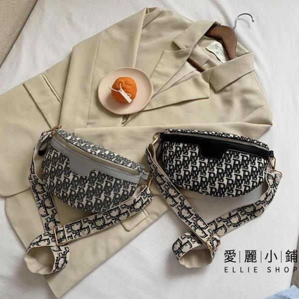 小包包女夏天流行帆布側背包胸包百搭斜跨腰包【愛麗小鋪】