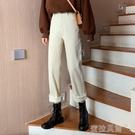 牛仔長褲牛仔褲女秋冬新款韓版寬鬆休閑百搭高腰直筒顯瘦加絨闊腿長褲蜜拉貝爾
