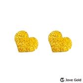 Jove gold 漾金飾 真情意黃金耳環