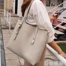 新款單肩包女大包大容量簡約托特包軟皮時尚百搭手提包女 可然精品