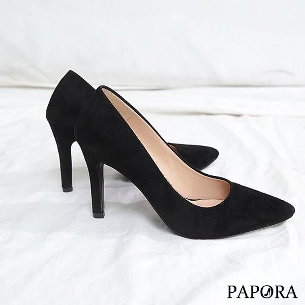 PAPORA小資女必備高跟鞋KQ1309黑