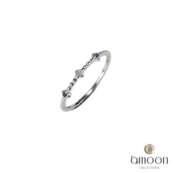 amoon 璀璨星空系列 星辰 K金鑽石戒指