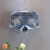 女童牛仔短褲2018夏裝新款兒童寶寶水洗磨破洋氣百搭包臀短褲熱褲夢想巴士