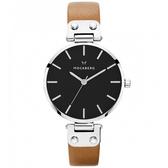 【台南 時代鐘錶 MOCKBERG】瑞典工藝 MO112 北歐極簡風格 WERA時尚腕錶 皮帶 銀 34mm
