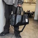 短途出差手提包男士韓版健身包學生側背包斜背旅行包大容量行李包