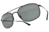 RayBan偏光太陽眼鏡 RB3654 00271 (黑-綠鏡片) 時尚潮流雙槓款 # 金橘眼鏡