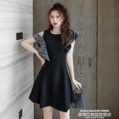 小禮服法式高級質感平時可穿的小晚禮服裙冬黑色宴會氣質氣場女王連身裙 萊俐亞