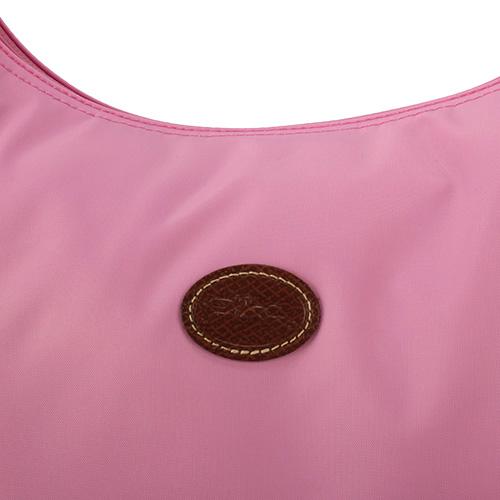 LONGCHAMP經典尼龍弧形大肩側背兩用包(粉紅色)480136-058