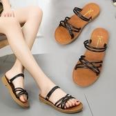 涼鞋夏季新款學生平底百搭涼拖鞋女鞋
