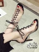 高跟鞋 高跟鞋女夏新款網紅細跟性感時尚走秀百搭透明羅馬法式2020年涼鞋VK1340