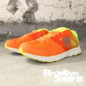 FILA 橘 螢光綠 透氣 休閒鞋 慢跑鞋 女 (布魯克林) 5J918P291
