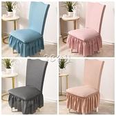 彈力椅套家用餐桌椅子套罩板凳套墊子靠背一體萬能通用凳子套歐式
