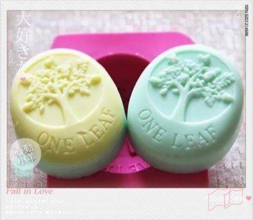 心動小羊^^耐高溫四孔精緻橢圓幸福樹模具DIY手工皂模具