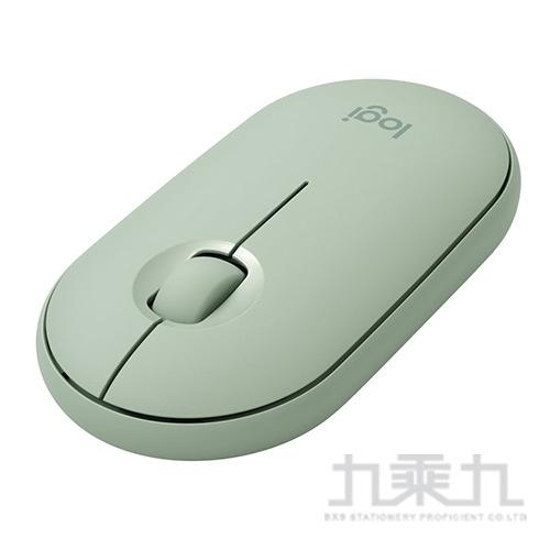 羅技M350鵝卵石無線滑鼠-薄荷綠
