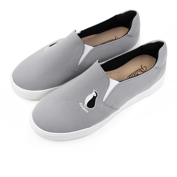 Paidal 保特紗厚底休閒鞋加硫鞋-企鵝
