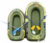 2人充氣船3人橡皮艇皮劃艇加厚氣墊特厚釣魚船  KB4958 【野之旅】