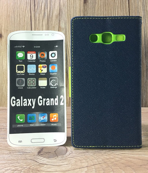 ◎福利品側翻皮套 SAMSUNG Galaxy Grand 2 G7106/G7102 撞色皮套 可立式 插卡 保護套 手機套