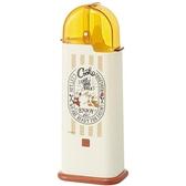 小禮堂 迪士尼 奇奇蒂蒂 日製 掀蓋塑膠餐具收納盒 筷盒 餐具筒 廚具盒 (米黃 廚師) 4973307-49859