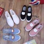 樂福鞋佳春夏韓版休閒女鞋流蘇拉毛帆布鞋女小白鞋一腳蹬 貝芙莉女鞋