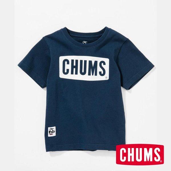 CHUMS 日本 童 LOGO 短袖T恤 深藍 CH211050N001