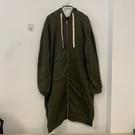 寬鬆衛衣新款連帽長款加厚開衫休閒運動外套(5XL號/777-7684)