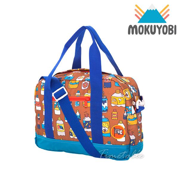 MOKUYOBI / Greyson Tote / L.A 空運繽紛氣泡水塗鴉旅行必備多功能旅行手提斜肩包 - 咖啡色