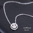 S925銀 微笑臉 項鍊-維多利亞161...