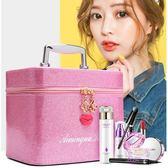 韓版多層化妝包大號化妝盒便攜旅行大容量化妝品收納手提包化妝箱包