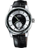 ORIS 豪利時 Artelier 小秒針經典機械手錶-黑 0162375824054-0752171FC