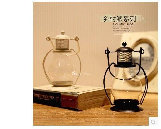 【戴夫】黑白金屬燭颱風燈2個組