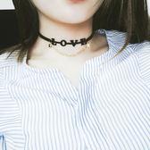 日韓版頸鏈原宿項圈love字母五角星項鍊鎖骨鏈女短款頸帶【ADN013】