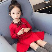長袖洋裝 兒童韓版童裝女童秋裝2018新款小女孩公主連身裙寶寶長袖洋氣裙子