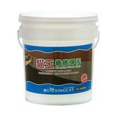 貓王纖維彈泥1加侖灰色
