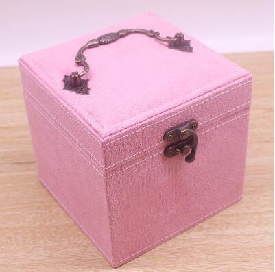 首飾盒公主歐式韓國手飾品首飾收納盒飾品盒【粉色】