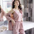 柔美色調個性帥氣輕鬆搭三件套組(外套+煙管褲+短版背心)[98918-QF]美之札