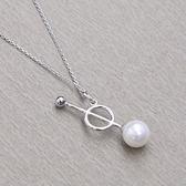 項鍊 925純銀珍珠吊墜-經典個性生日情人節禮物女飾品73gj42【時尚巴黎】
