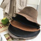 年終大促 可折疊羊毛帽毛線盆帽  0.12KG