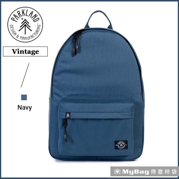 Parkland 後背包 深藍色 電腦後背包 簡約休閒背包 Vintage-018 MyBag得意時袋