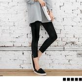 OB嚴選《BA1787-》褲腳造型舒適百搭九分/八分/七分內搭褲.8色--適 XS~XL